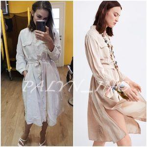 ❤️❤️ZARA BELTED DRESS WITH POCKETS